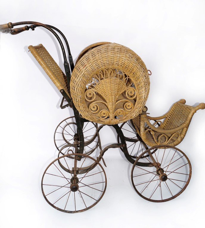 Victorian Wicker Stroller