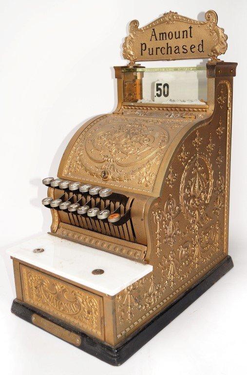 Brass Cash Register by National