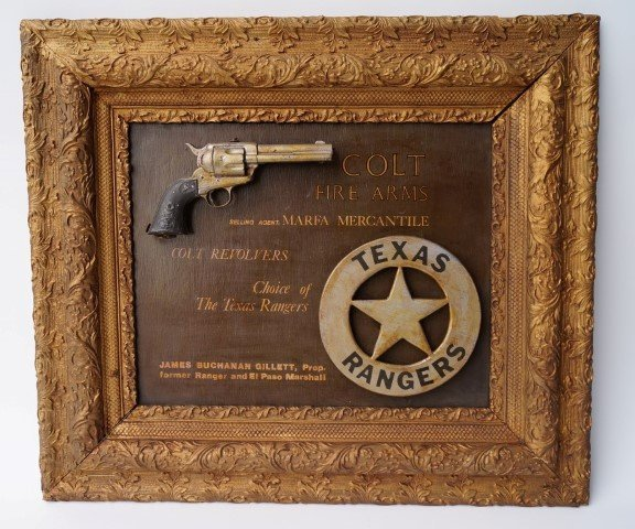 Advertising Board for Colt Revolvers