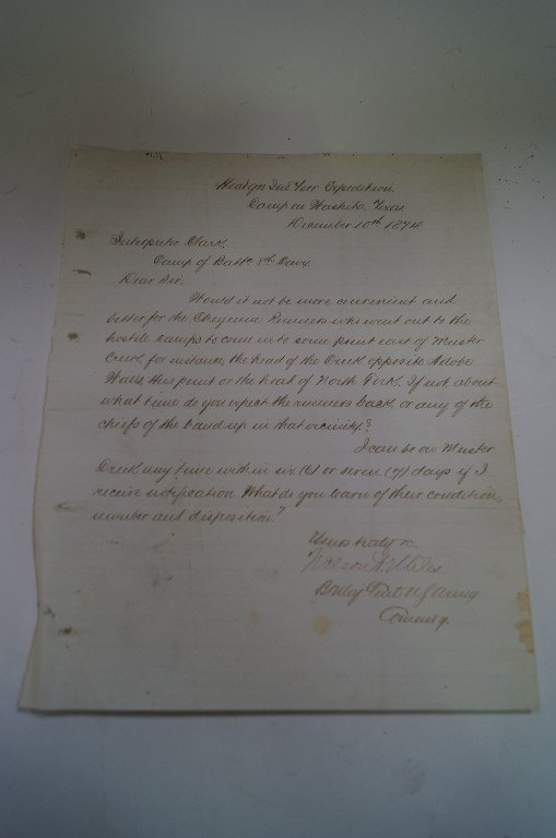 Letter from Hdqtrs. Indian Territory