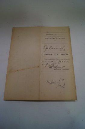 Indian Territory Cattle Rustler Warrant