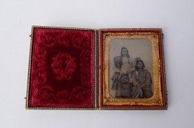 Daguerreotype-Indian Tribesman and Wife