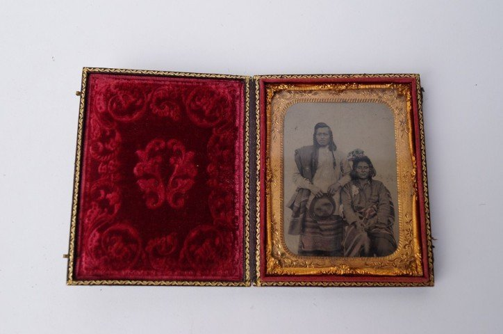 Daguerreotype-Indian Tribesman and Wife