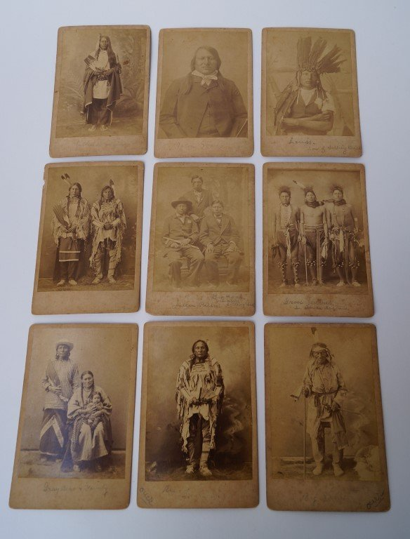 Nine Cabinet Cards Indian Chiefs