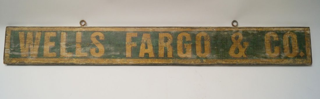 Wells Fargo Hand Painted Sign