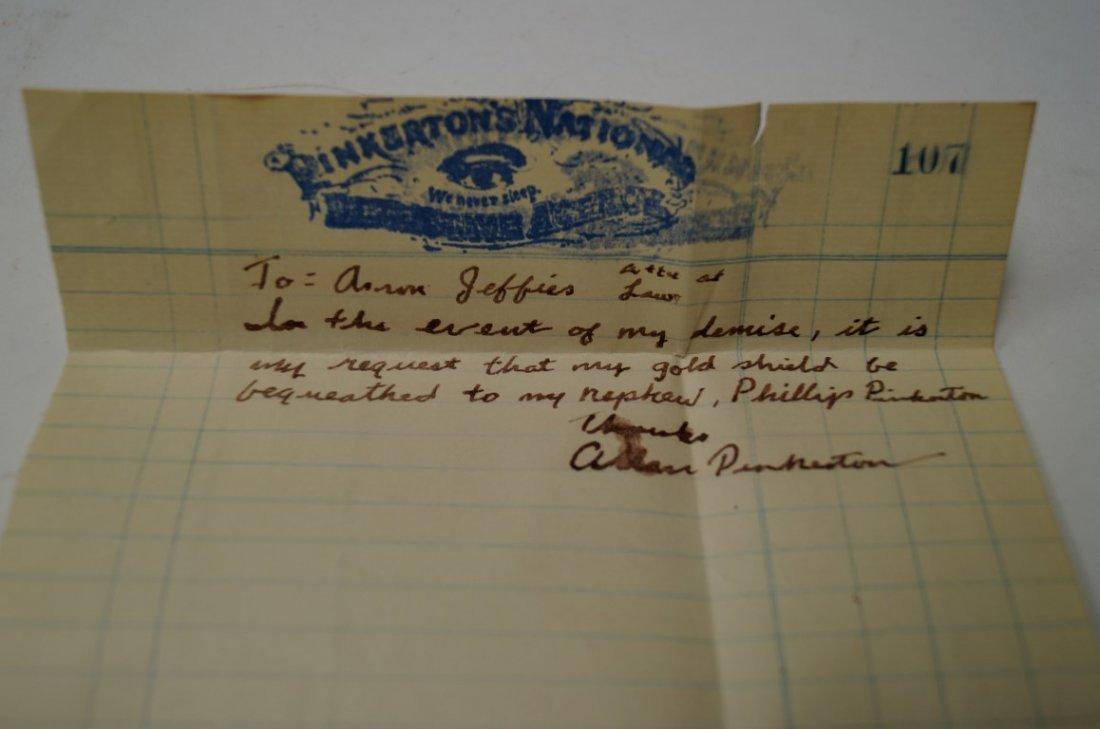 Detective Badge of Allan Pinkerton - 6