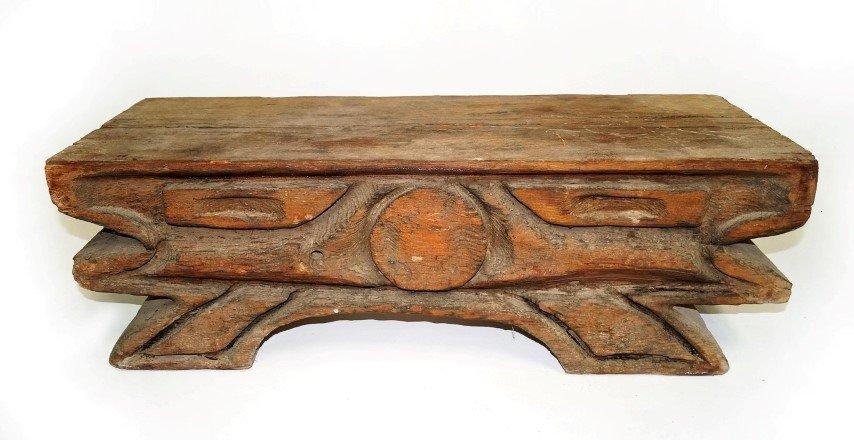 Northwest Indian Carved Bench