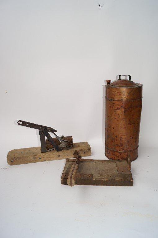 Copper Dynamite Warmer, Fuse Cutter, Cap Crimper