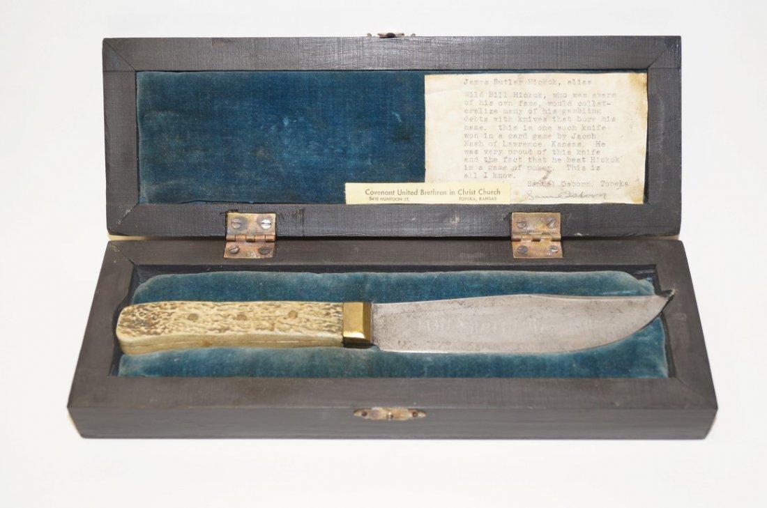 Wild Bill Hickok's Knife in Wood Box