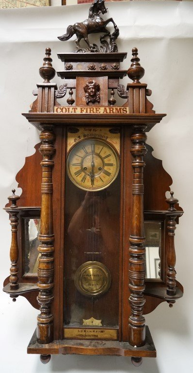 Colt-Spangenberg Wall Clock - Tombstone, A.T.