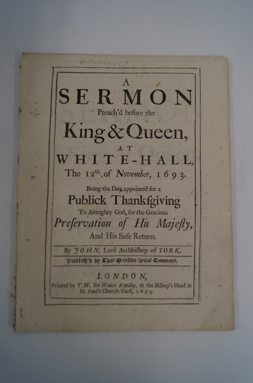 17th Century Printed Sermon