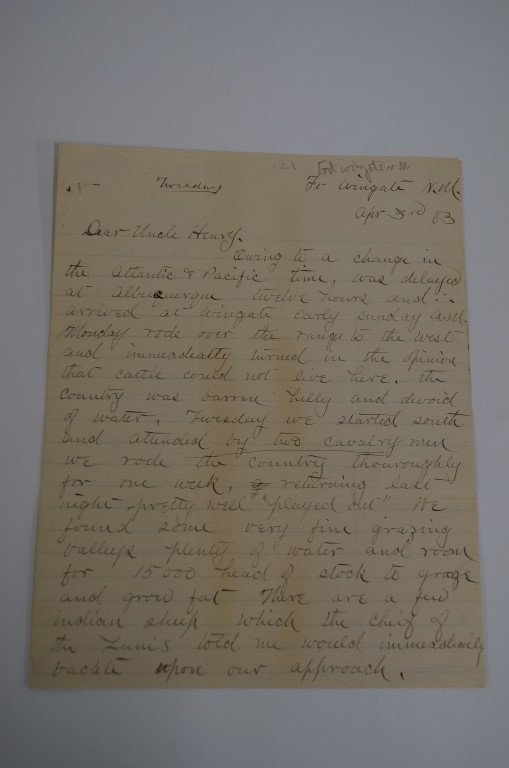 New Mexico Cattle Expedition Letter