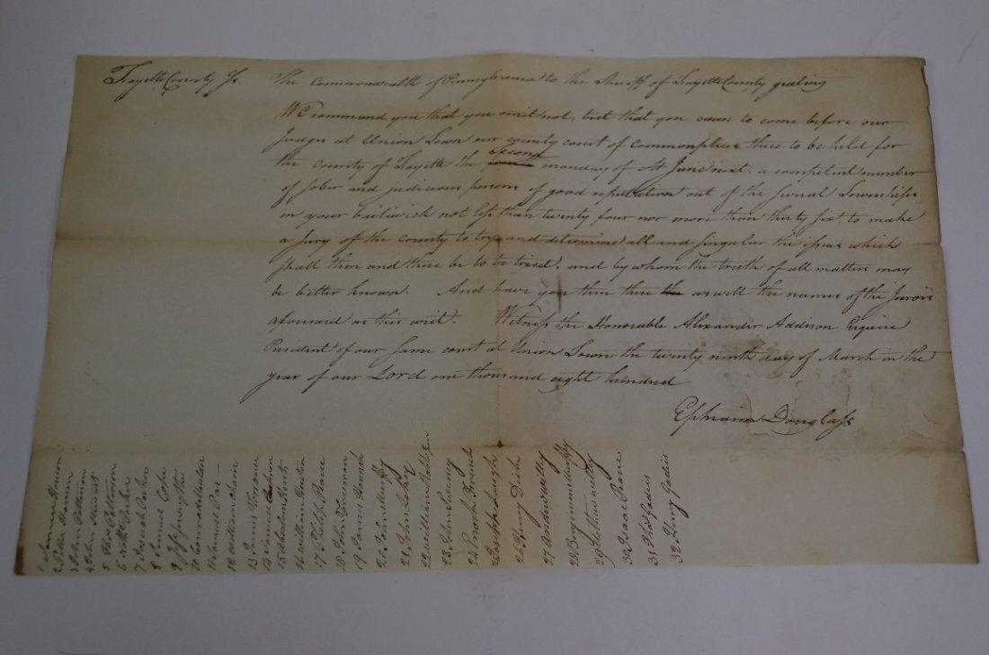 Document Signed Ephraim Douglass