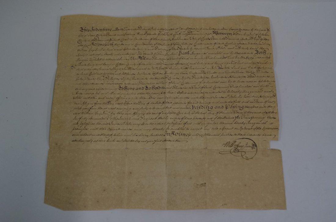 James Abercromby Handwritten Land Grant