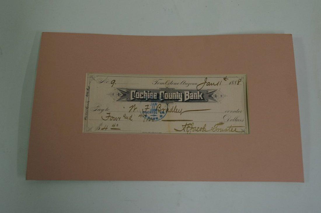 1888 Tombstone Arizona Check