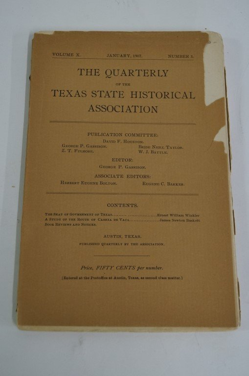 Texas History Journal C 1907