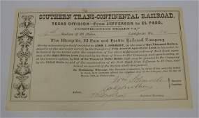 John C Fremont Signature C 1868