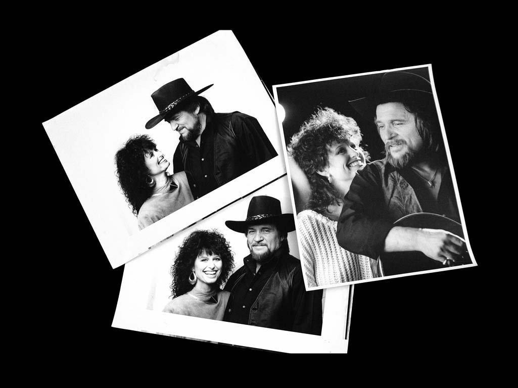 Six Black & White Photographs of Waylon and Jessi