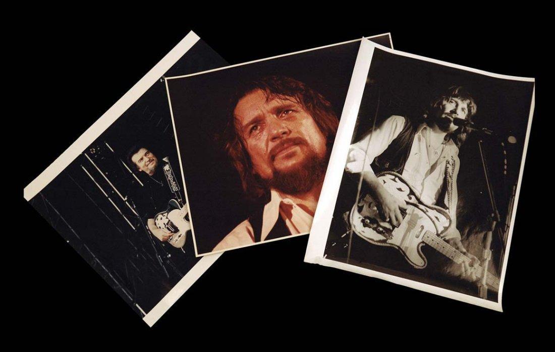 Three Unpublished Vintage Photographs of Waylon