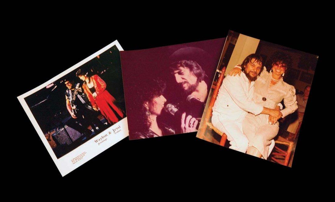 Three Color Photographs of Waylon and Jessi