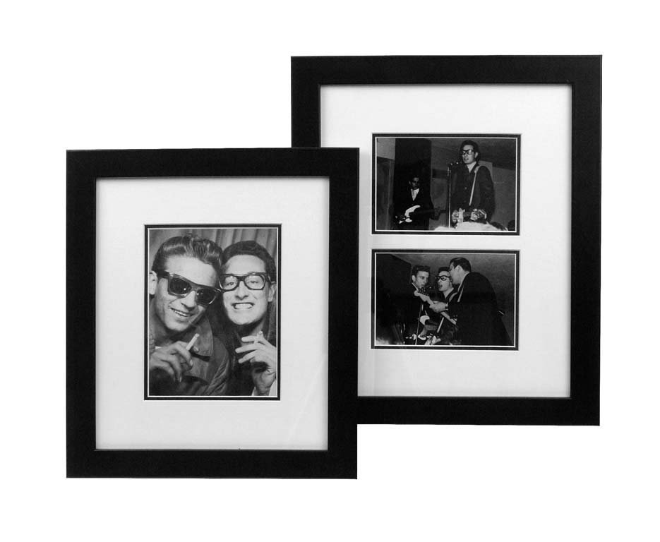 Three Photographs of Waylon Jennings and Buddy Holly,