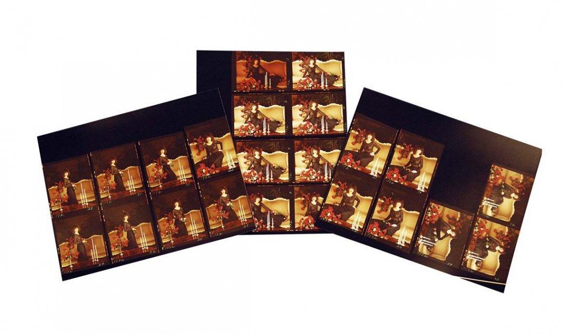 Twenty-five Photographic Contact Prints of an Elegant