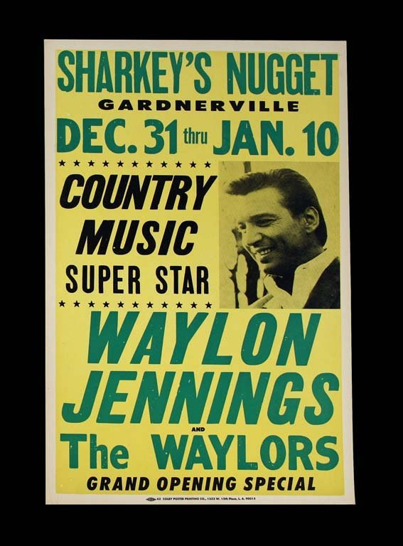 Original Poster for Waylon Jennings and the Waylors at