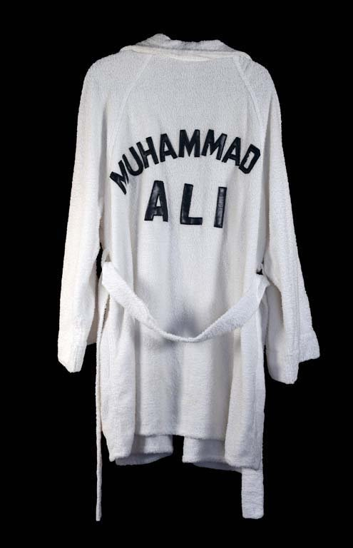 Muhammad Ali's Ring Robe Presented to Waylon by Ali