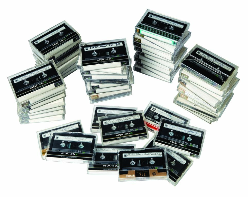 A Unique Collection of 80 Les Paul Gig Cassettes from