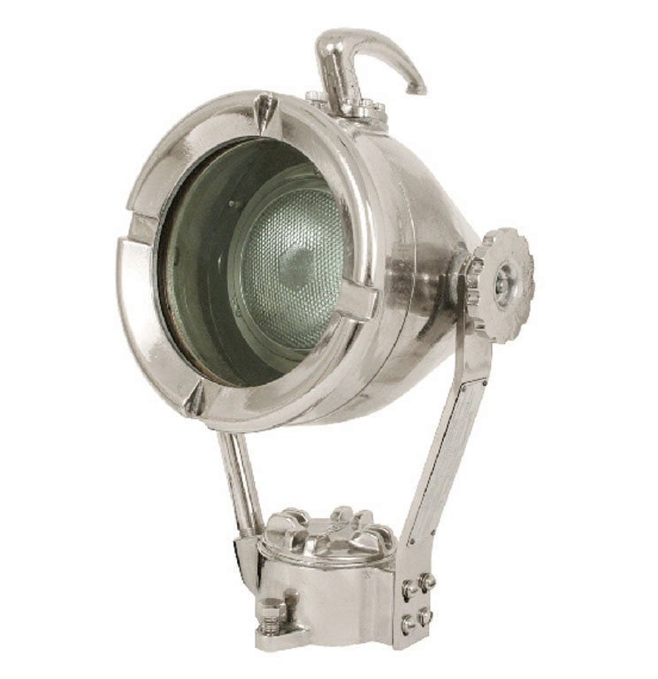 INDUSTRIAL LIGHT WITH EXTENDED HANDLE, C. 1940