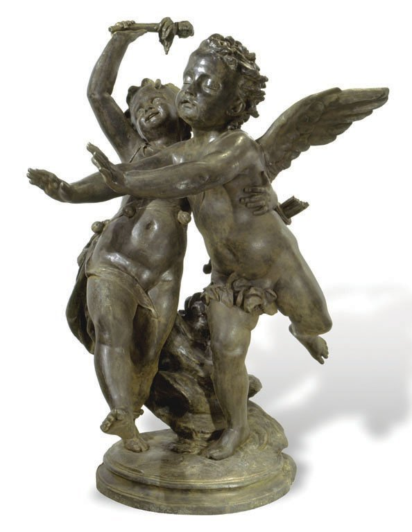 FOOLISH LOVE STATUE GROUP, C. 1840