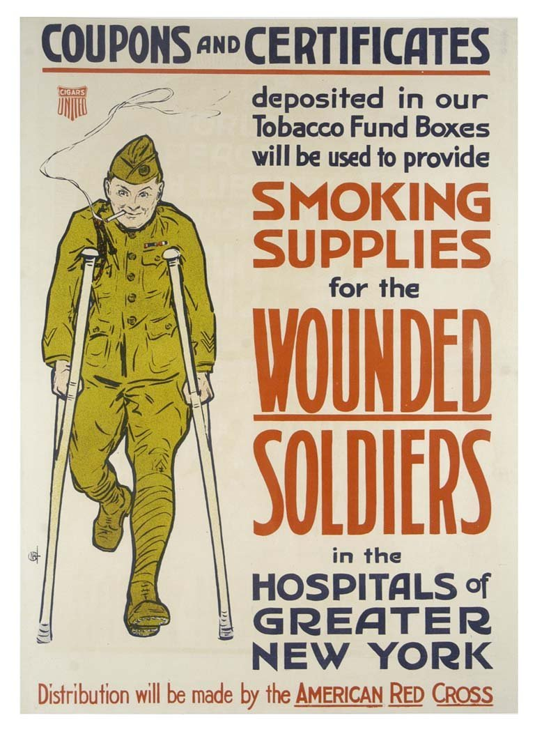 Smoking Supplies for Wounded Soldiers