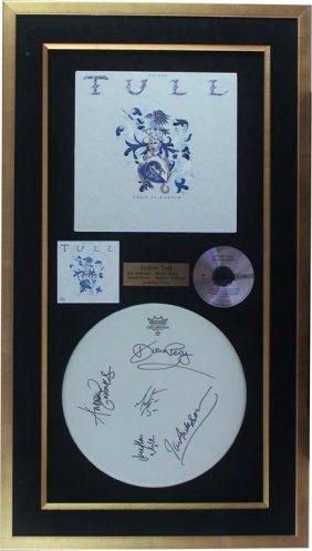 Jethro Tull Autographed Drumhead