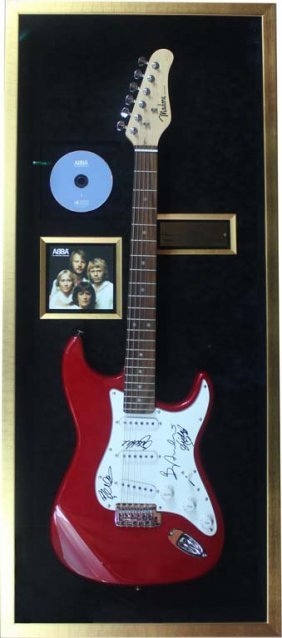 Electric Guitar Signed By Abba