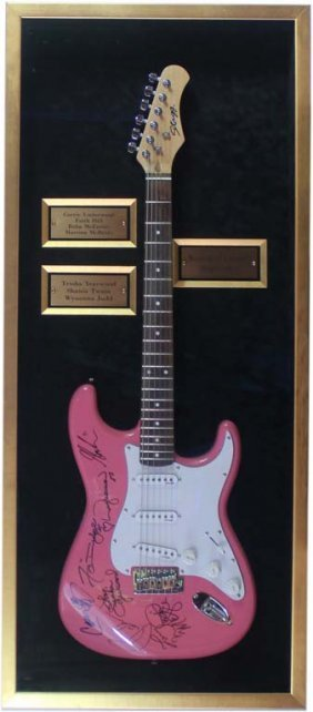 Women Of Country Superstars Autographed Guitar