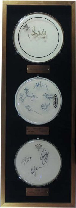 Collection Of Autographed Drumheads