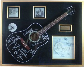 Acoustic Guitar Autographed By Chicago