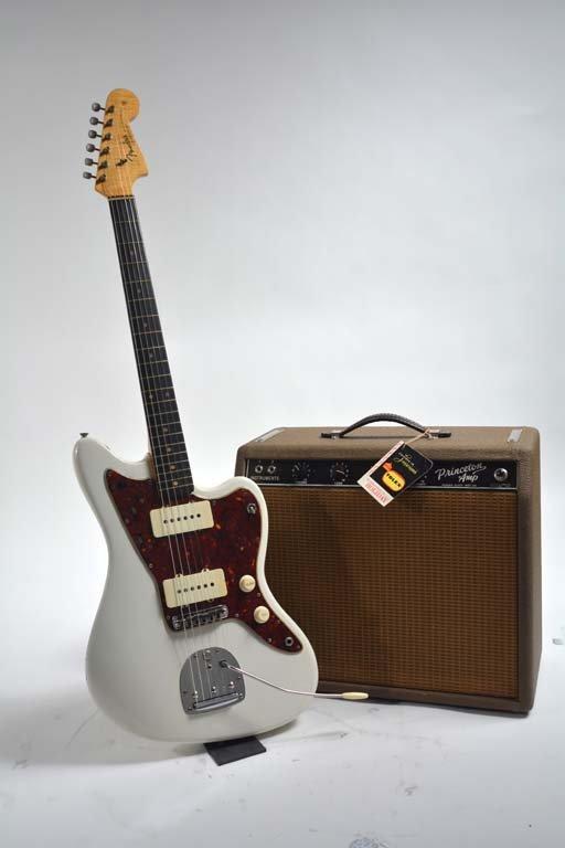 1963 Fender White Jazzmaster + Princeton Amp