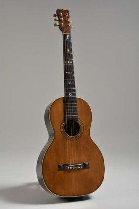 C. 1899 Joseph Bohmann Parlor Guitar, Lowenstein