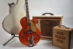 1956 Gretch Model 6120 With Gretsch 6169 Electromatic