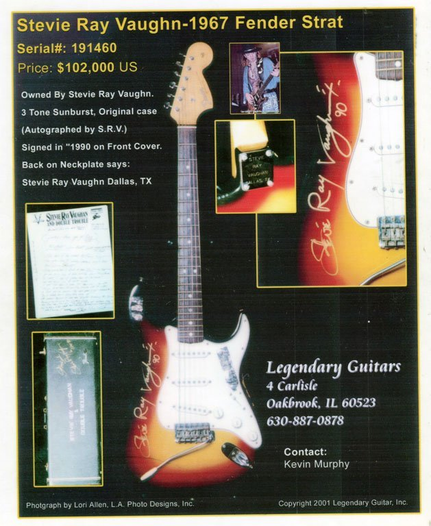 Stevie Ray Vaughan-Owned & Signed c. 1966-67 Fender - 9