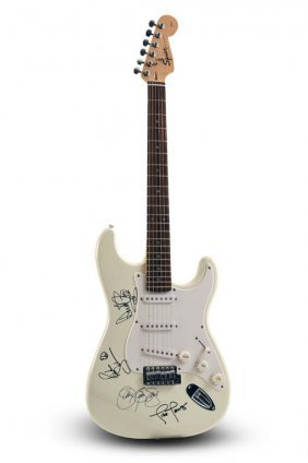 Fender Squier Stratocaster, Signed By Bon Jovi's Band