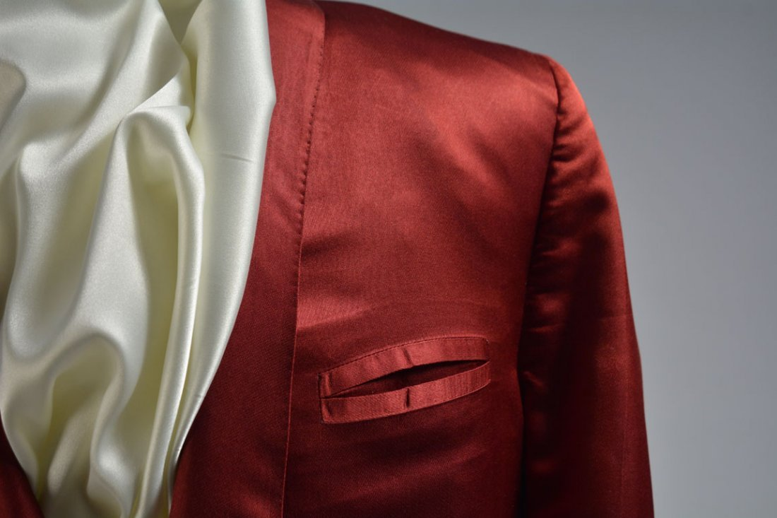 Red Silk Jacket - 4