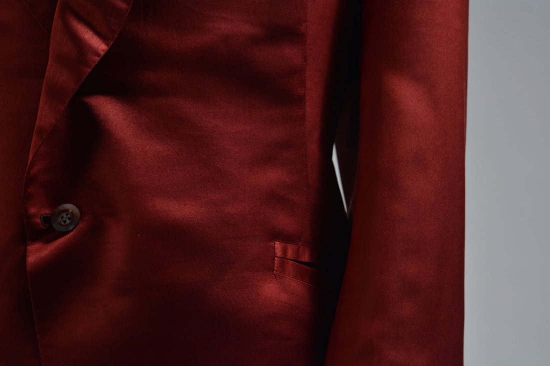 Red Silk Jacket - 6