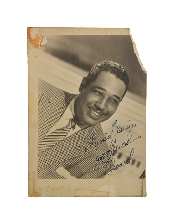 Photograph of Duke Signed to Cousin Bernice