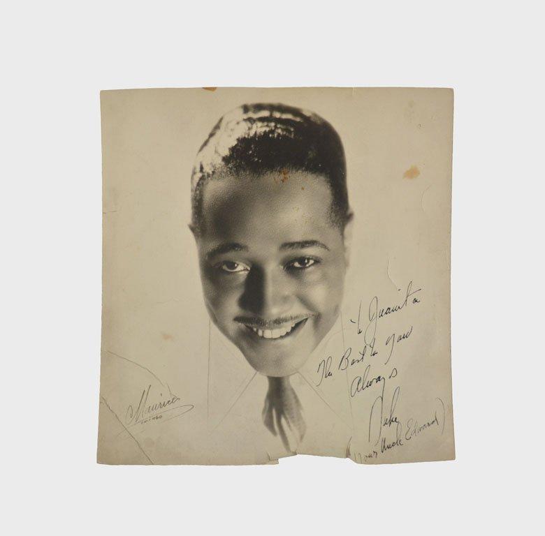 Photograph of Duke, Signed to his Niece Juanita