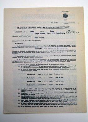 """""""Morocco (now known as Zanzibar),"""" Contract"""