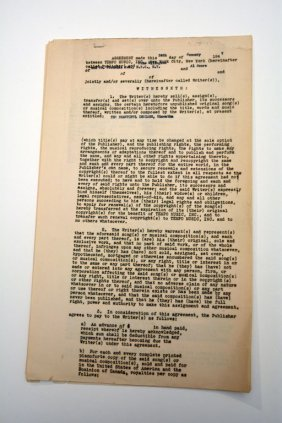 """""""The Beautiful Indians (Hiawatha),"""" Contracts"""