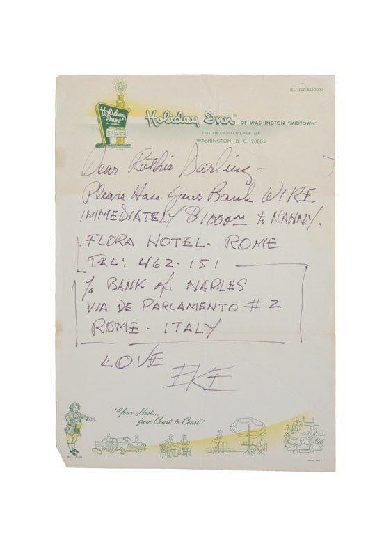 Handwritten Note, from Duke to Ruth