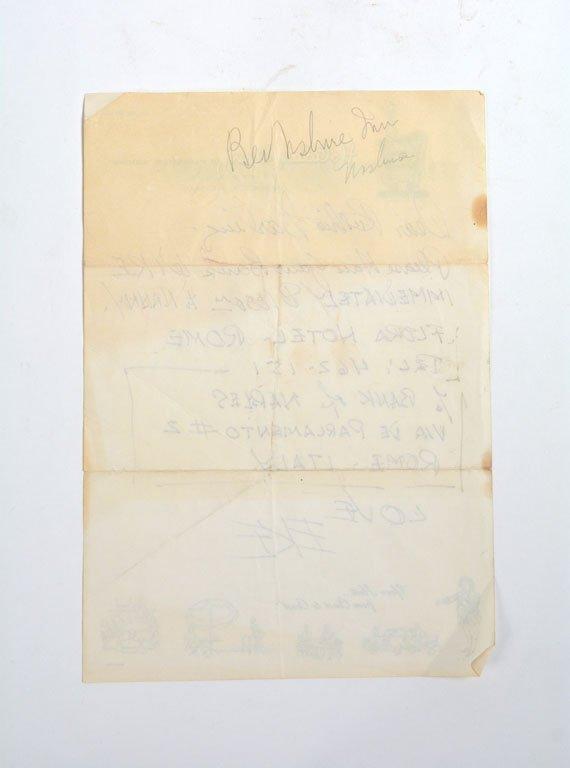 Handwritten Note, from Duke to Ruth - 2